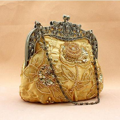 High-grade Sequins handmade handbag..