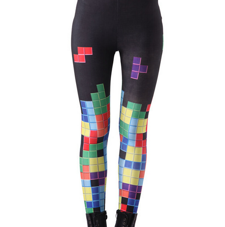 Printed Leggings Pants Sexy Slim Long Pencil Trousers/Fashion Tights Lgs3100