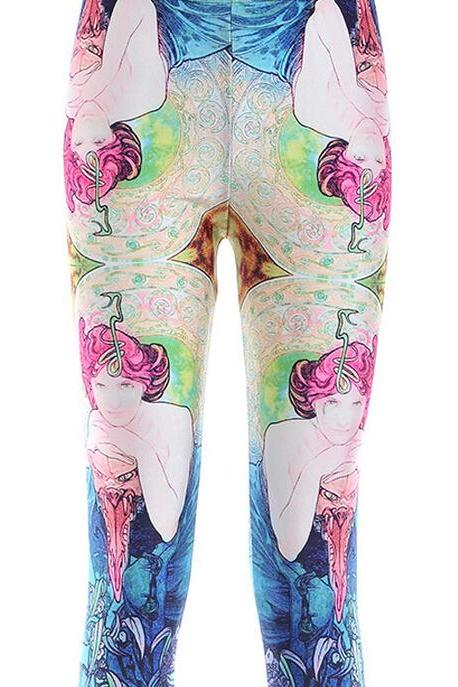 Printed Leggings Pants Sexy Slim Long Pencil Trousers/Fashion Tights/Yoga pant Lgs3535