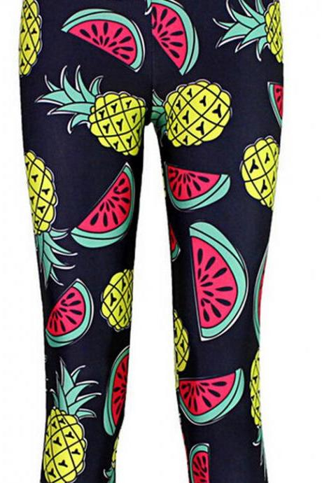 Printed Leggings Pants Sexy Slim Long Pencil Trousers/Fashion Tights/Yoga pant Lgs3521
