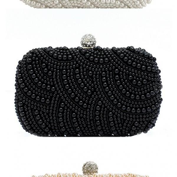 High-grade pearl bag handbag, bride handbag,wedding bag,party handbag,beaded wedding bag(NB10004)