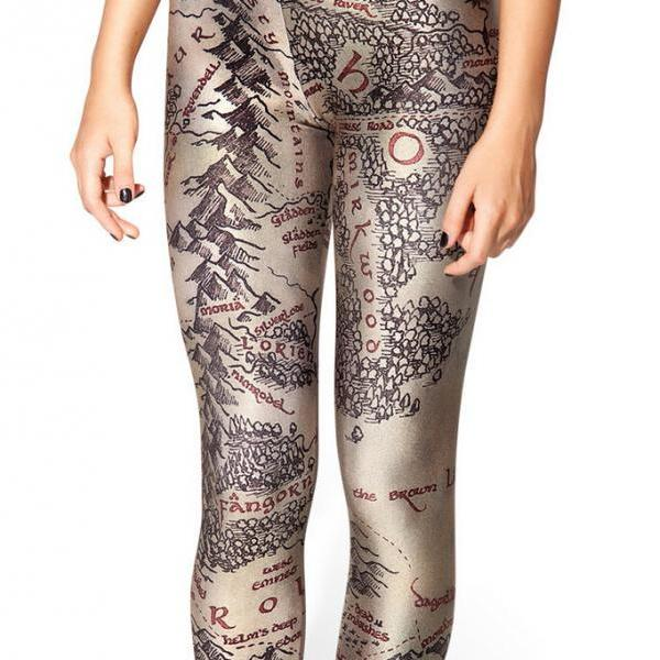 Printed Leggings Pants Sexy Slim Long Pencil Trousers/Fashion Tights Lgs3146